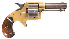 This is an antique 2mm rimfire double action six shot ...