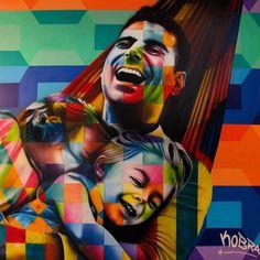 Novo Mural em #Brasília  foto @MateusBonomi      Eduardo Kobra artist
