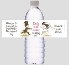 Rehearsal Dinner Water Bottle Labels for Wedding Favors or decorations - Personalized