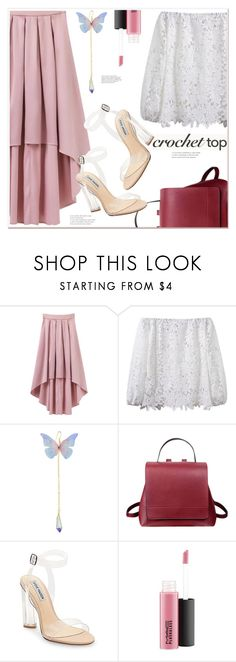 """""""crochet top"""" by mycherryblossom ❤ liked on Polyvore featuring Steve Madden and MAC Cosmetics"""