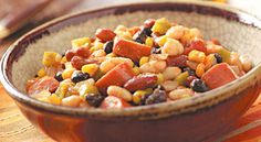 Slow Cooker: Spicy Beans with Turkey Sausage Recipe | Reader's Digest