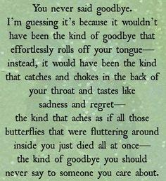 goodbye quote broken heart quote break up quote falling in love love quote  butterflies quote excerpt from Broken Hearted Girl by Emma Blake