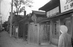 1967年(昭和42年) 2月3日 品川区大井七丁目27 全景。窓に『東京電業社』の文字