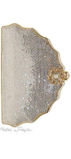 Regilla ⚜ Judith Leiber, bejeweled rhinestone clutch
