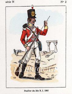 Fuciliere del 26 rgt. fanteria di linea inglese