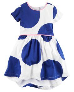 Carter's Dot-Print Dress, Little Girls Girls Casual Dresses, Toddler Girl Dresses, Blue Dresses, Toddler Girls, Polka Dot Summer Dresses, Kohls Dresses, Carters Dresses, Girl Fashion, Dress Fashion