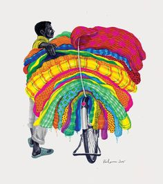 The Ghoda Cycle Project is a visual document of the myriad avatars of bicycles in the rural and urban landscape of India. Art And Illustration, Book Illustrations, Pop Art Wallpaper, Pop Art Design, Icon Design, Design Ideas, Graphic Design, Indian Folk Art, Indian Artist