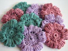 Crochet flowers. Found on Alpaca meadows