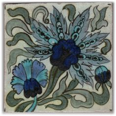 Persian style tile, ca. 1885