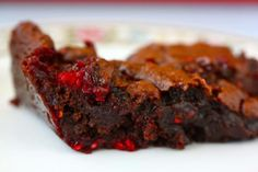 Raspberry Jam Brownies - Choc chips, raspberry preserves, milk, sugar, oil, floar, cocoa powder, soda, salt