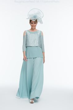 Long Mother of the Bride/ Groom Outfit : Gorgeous Long Mother of the Bride/ Groom Outfit. Beautiful blue Trouser Suit with my favourite Palazzo Pants and fun Layered look. Made to measure by Joyce Young By Storm Blue Trousers, Bridal Wedding Dresses, Designer Wedding Dresses, Mother Of The Bride Plus Size, Mother Bride, Joyce Young, Mother Of The Bride Trouser Suits, Flattering Outfits, Bridesmaids
