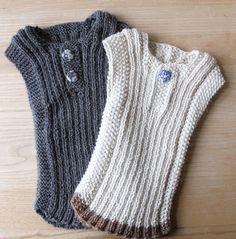 Billedresultat for babyvest Baby Patterns, Knitting Patterns Free, Knit Patterns, Free Pattern, Knitting For Kids, Baby Knitting, Baby Outfits, Kids Outfits, Knit Vest Pattern