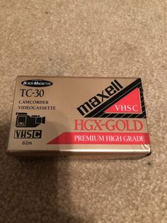 Maxell TC-30 Blank Video Camcorder Factory Sealed VHS-C HGX-Gold Tape 30 Min  | eBay