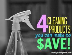 Is your cabinet cluttered with costly cleaners? This blogger shares her recipes for 4 cleaners that are frugal AND avoid harmful chemicals.