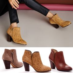 Booties with Zipper Hardware - so chic!