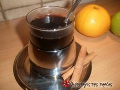 Great recipe for Hot wine with spices. It is served piping hot on cold winter days. Recipe by Sitronella Christmas Sweets, Xmas, Recipe Images, Greek Recipes, Yummy Drinks, Chocolate Fondue, Smoothies, Spices, Food And Drink