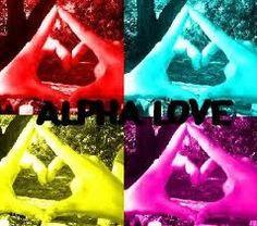 alpha love, AOII hand sign