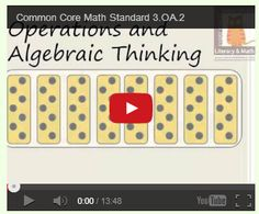 Free Common Core Videos:  Common Core Standard 3.OA.2 Operations and Algebraic Thinking Explained.