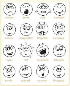 Feelings Chart, Feelings And Emotions, Emotions Cards, English Lessons, Learn English, Feelings Activities, Emotions Preschool, Emotion Faces, Emotional Strength