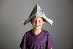 Activities, Ideas, Travel, Movies & Technology for Kids - All for the Boys - NEWSPAPER HATS