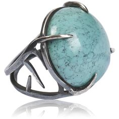 Dominique Lucas Thorn Ring Turquoise ($296) ❤ liked on Polyvore