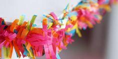 Paper Crafting Week - Part 4: Paper Garlands- Amanda's Parties To Go