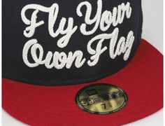2511c911 Fly Your Own Flag Navy 59Fifty Fitted Baseball Cap by ONSPOTZ x NEW ERA