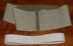 Sew Inspired: Attached Elastic Waistband Tutorial Tailleband aanzetten