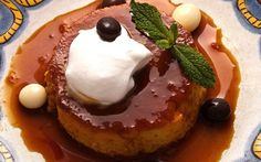 Coffee Flan with Tequila Whipped Cream