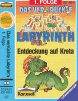 Das verrückte Labyrinth (1) Entdeckung auf Kreta - Karussell MC 837 497-4 (1988) - Die Hörspielforscher