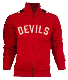 OTH Carbon Track Jacket  Heavy garment washed fleece track jacket with contrasting team color shoulders from OLD TIME HOCKEY. Double felt applique team name on front, team logo embroidered on back. 80% Cotton/20% Polyester.