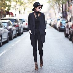 Uniform #inspiration || via @weworewhat #allblack #streetstyle #fashion #ootd #love