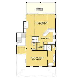Coastal Home Plans - Danforth Landing Beach House Floor Plans, Coastal House Plans, Small House Plans, Coastal Homes, Beach Homes, Front Porch Stairs, Small Beach Houses, Building A Porch, Diy Deck
