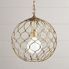 Our small Hoyne pendant lamp crisscrosses an open-weave of sculptural geometry. Its welded iron wire sphere is finished in brass for a warm, golden glow. Brass Lamp, Brass Pendant, Pendant Lamps, Home Lighting, Pendant Lighting, Kitchen Lighting, Lighting Ideas, Entry Lighting, Modern Lighting