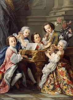 Sebastiana Ceccarini - Portrait of Young Princes Marescotti of Parrano (1745)