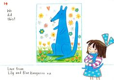 Lily helps you draw the very beautiful and sweet Blue Kangaroo, with a smidgeon of help from Emma Chichester Clark – and Blue Kangaroo himself. So gather your art stuff together: you'll need paper, two pencils, one blue and one black and some blue paint Foundation Stage, Book Sites, Chichester, Love Illustration, You Draw, The Guardian, Kangaroo, Childrens Books, Lily