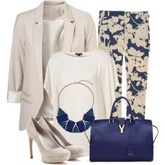 Topshop tunic, Philip Lim pants McQueen pumps and YSL bag Ysl Bag, Cream Tops, Floral Pants, Looking For Women, Fashion Addict, My Outfit, Topshop, Fashion Looks, Womens Fashion