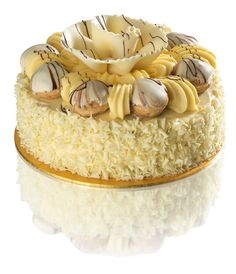 White Chocolate Dream Gateau...cakes deliverable around London.  Pataserrie