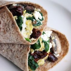 Fast-Food Breakfast Hack: The Spinach-Feta Wrap