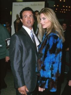 Sylvester Stallone and Jennifer Flavin at an event for The Whole Nine Yards Jennifer Flavin, The Whole Nine Yards, Hollywood Couples, Old Flame, The Expendables, Jason Statham, Sylvester Stallone, Rest In Peace, Sexy