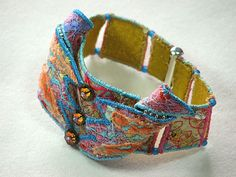 Embroidered Textile Bracelet, via Flickr.