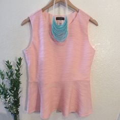 Blush Pink Top Please feel free to ask any questions..  necklace not included. Cocomo Tops Blouses