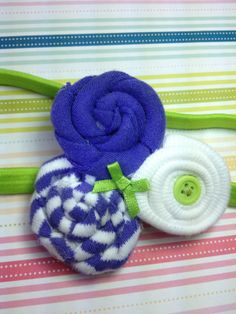 purple white and lime cotton headbandBaby by JennabooBoutique, $5.00