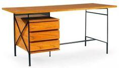 années 50, bureau, Pierre Guariche, 1956, ©pba-auctions.com