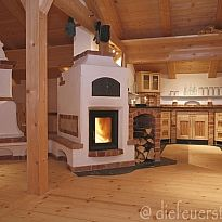 The fireplace Stove, stove & chimney construction Pizza Oven Fireplace, Stove Fireplace, Masonry Oven, Cute Apartment, Rocket Stoves, Facade House, Future House, Diy Home Decor, Home Appliances
