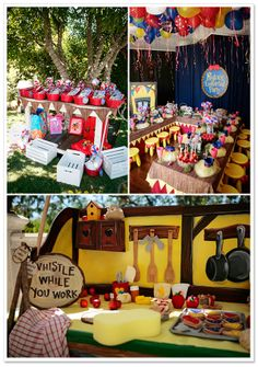 Snow White Birthday Party by Tammy Horton Photography on TheIndieTot.com So many cute decorating ideas