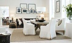 Confort et pureté avant tout  Décoration: photos & idées tendance pour revamper votre salle à manger traditionnelle  http://blogue.dessinsdrummond.com/2014/06/03/idees-salle-a-manger-traditionnelle/
