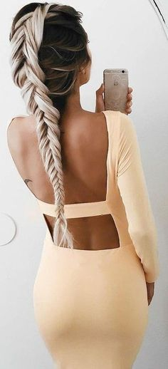 #summer #girly #outfits | Open Back Dress