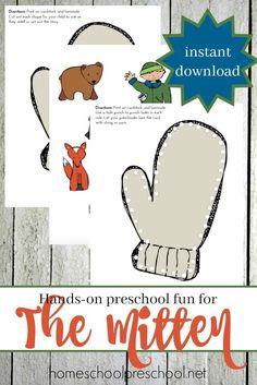 One Mitten Activities for Kids Winter activities Youngest child