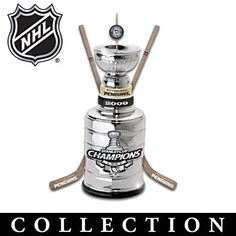 Stanley Cup® Ornament Collection. Officially licensed! Stanley Cup® trophy replica ornaments commemorating the 3 championships of the NHL®'s Pittsburgh Penguins®.